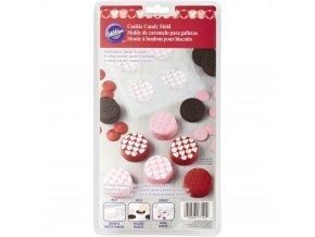 Kolečka se srdíčky forma na čokoládu 2115-0142