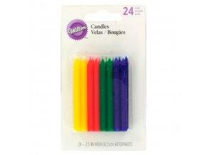 2811 284 wilton candles rainbow