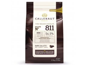 Belgická tmavá čokoláda 54,5% kakaa Callebaut 2,5kg