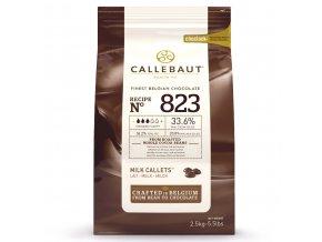Belgická mléčná čokoláda 33,6% Callebaut 2,5kg