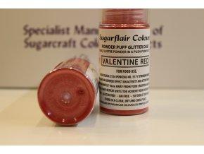 Valentýnská červená prachová barva ve spreji
