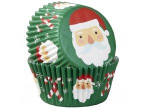 Santa vánoční cukrářské košíčky 415-7668 Wilton