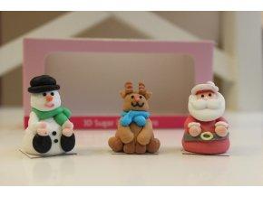 Vánoční postavičky 3D FC73001 cukrová dekorace