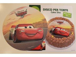 Cars jedlý papír na dort bez cukru 18,5cm 72045