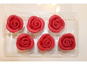 Červené marcipánové růže FunCakes  FC74007