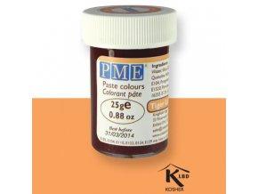 Oranžová gelová barva PME PC1050