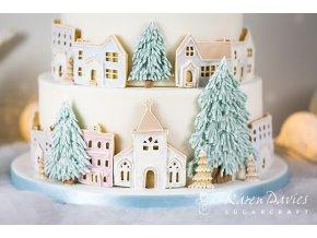Karen Davies Christmas pastel house cake 02