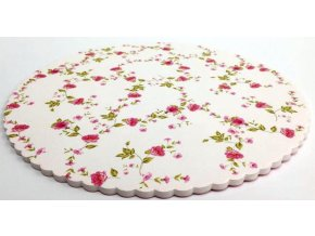 Plastová dortová podložka květiny + 5 krajek CB3