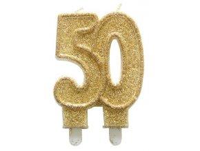 Zlaté třpytivé svíčky k 50. jubileu C-62