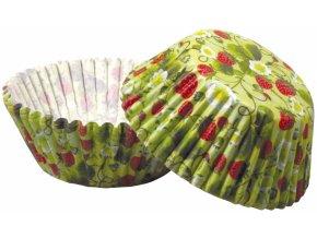 Jahody cukrářské košíčky na pečení 50ks Muf-219