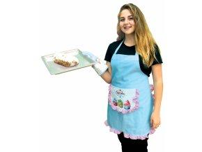 Cupcake bavlněná zástěra pro cukrářky