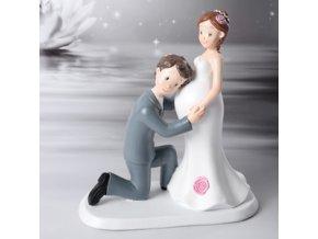 Svatební pár - těhotná nevěsta 28480
