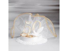Zlatá svatba dekorace na dort 29020