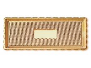 Zlatý tác obdélník 15 x 40 cm Alcas