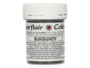 sugarflair chocolate colouring 35g burgundy 44378 p