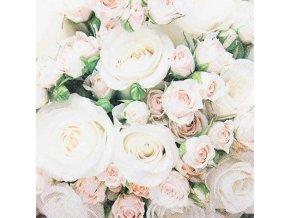 Růže papírové ubrousky 211811 20ks