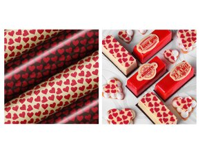 Srdce transfer folie na čokoládu 81368