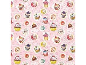 Cupcakes papírové ubrousky 211512