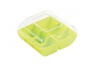 Plastová krabice na makronky pistáciová
