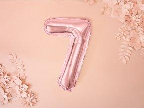 Fóliový růžový balónek 7 FB10M-7-019R