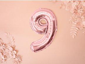 Fóliový růžový balónek 9 FB10M-9-019R