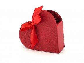 Červené srdce krabičky na výslužku PUDP11