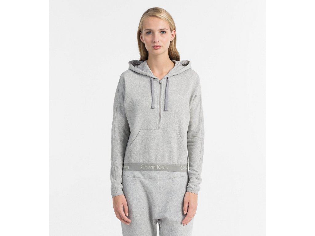 04dfc46c2 Dámská mikina Calvin Klein - kolekce Body - šedá - neodolatelna.com