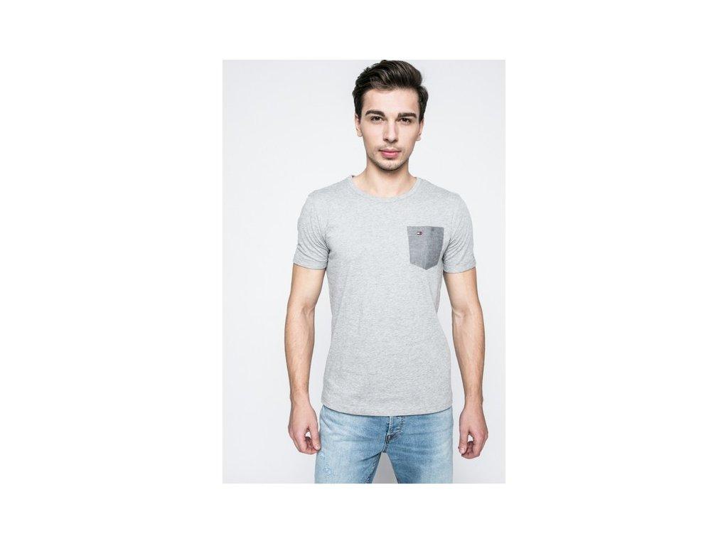 Pánské tričko Tommy Hilfiger šedé um0um00466
