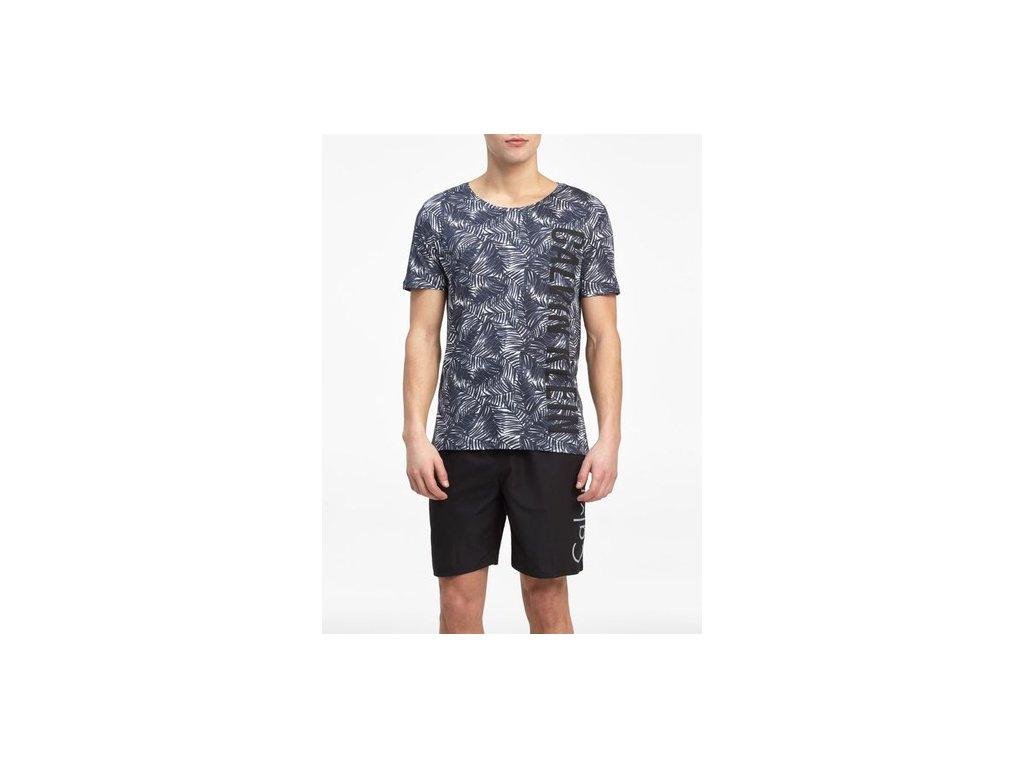 Pánské tričko Calvin Klein Relaxed Crew Tee Jungle černé (Velikost UK (EU) XL (XXL))