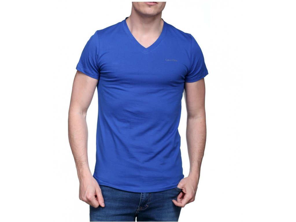 Calvin Klein T Shirt Km0km00006 V Neck Tee 475