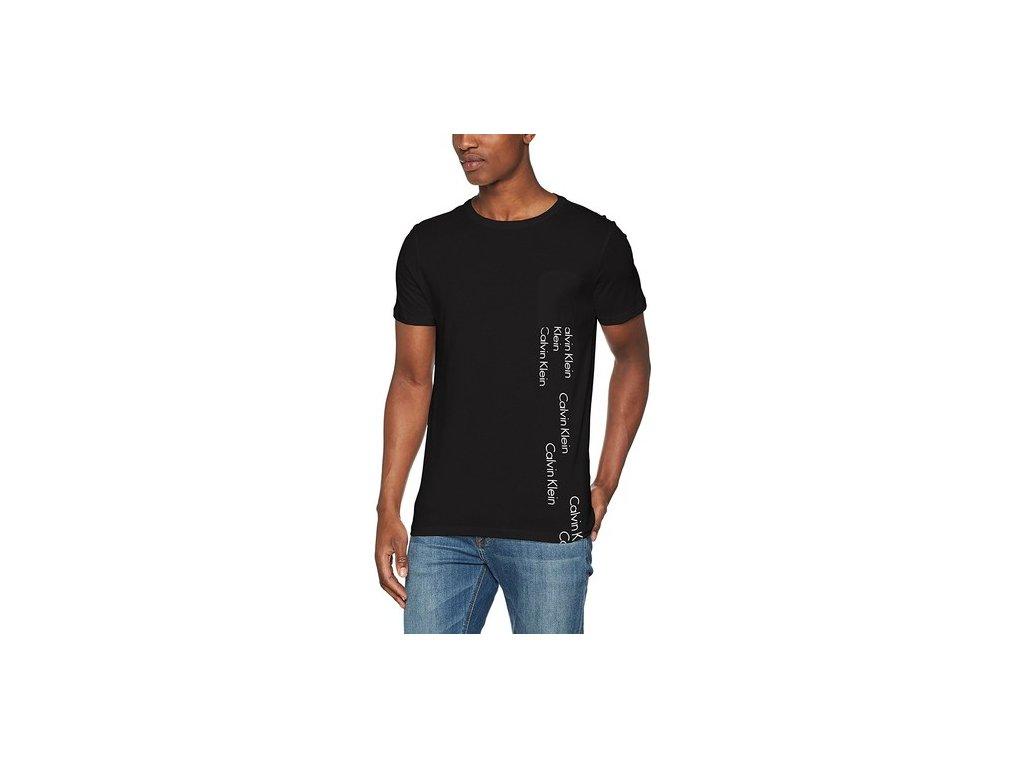 abe3693d323d Pánské tričko Calvin Klein kolekce Logo Spill Crew Tee černé ...
