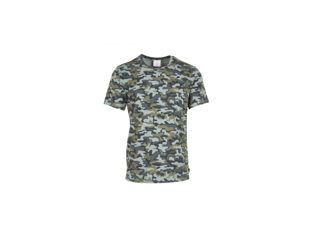 Pánské tričko Calvin Klein khaky maskáčové pánské tričko - Camo print b89734f7eb
