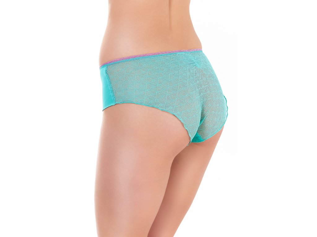 dámské kraťáskové kalhotky - freya - DECO VIBE OPAL UW MOULDED PLUNGE BRA J HOOK AA1704 SHORT AA1706 S