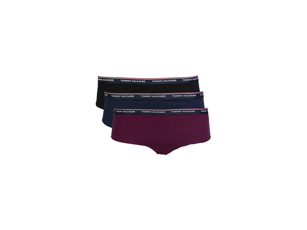 3ks v balení dámské kraťásky (shorty) Tommy Hilfiger UW0UW00010 504