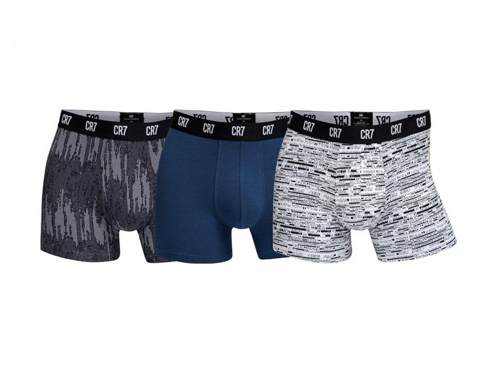 CR7 3pack vyšších boxerek s delší nohavičkou limitovaná kolekce CR7  8100-49-700