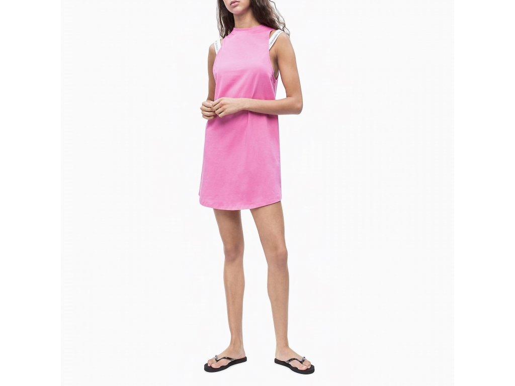 Calvin Klein dámské šaty růžové KW0KW00709 658