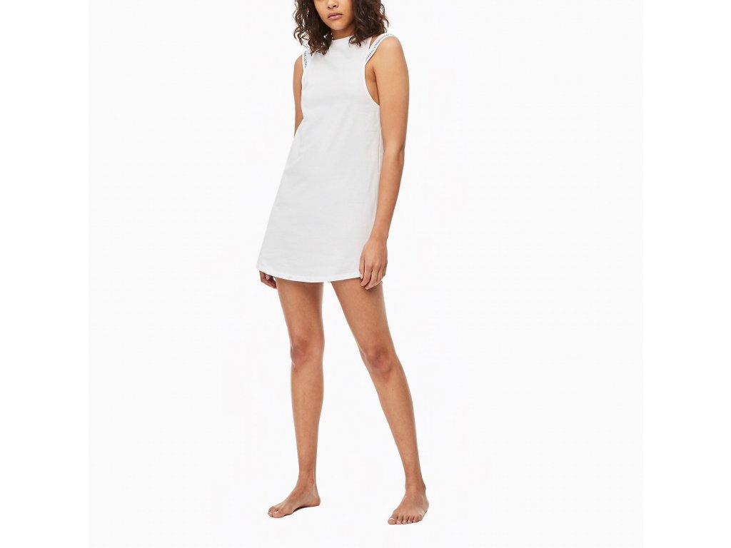 Calvin Klein dámské šaty bílé KW0KW00709 100