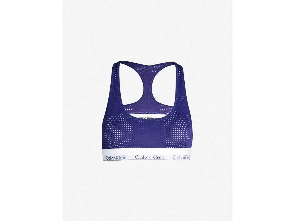 Calvin Klein Dámská Braletka - Limitovaná kolekce sportovní podprsenka - modrá 000QF4638E xs6 Unlined bralette