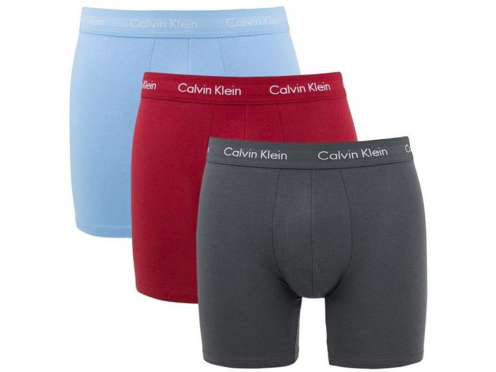 Calvin Klein 3KS BALENÍ Boxerek s dlouhou nohavičkou barevné ( NB1770A LKZ)