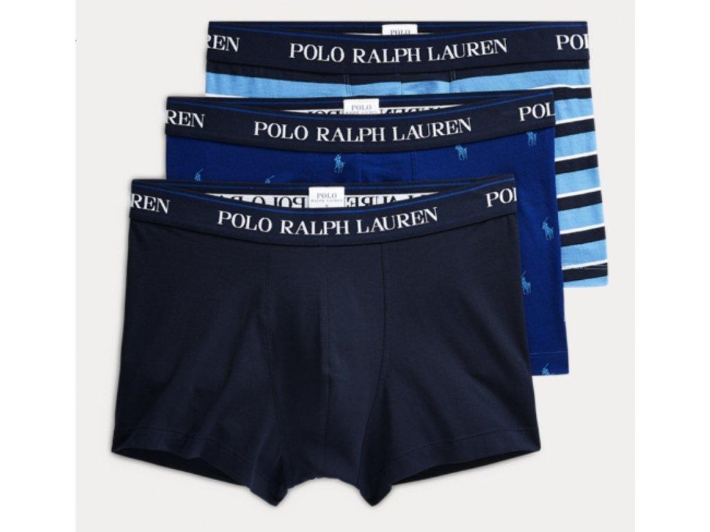 Polo Ralph Lauren Pánský 3 balíček boxerek kratší nohavička (klasický střih) limitovaná kolekce 714662050037 (PRL 3pack stretch cotton classic trunks 3PK-TRN
