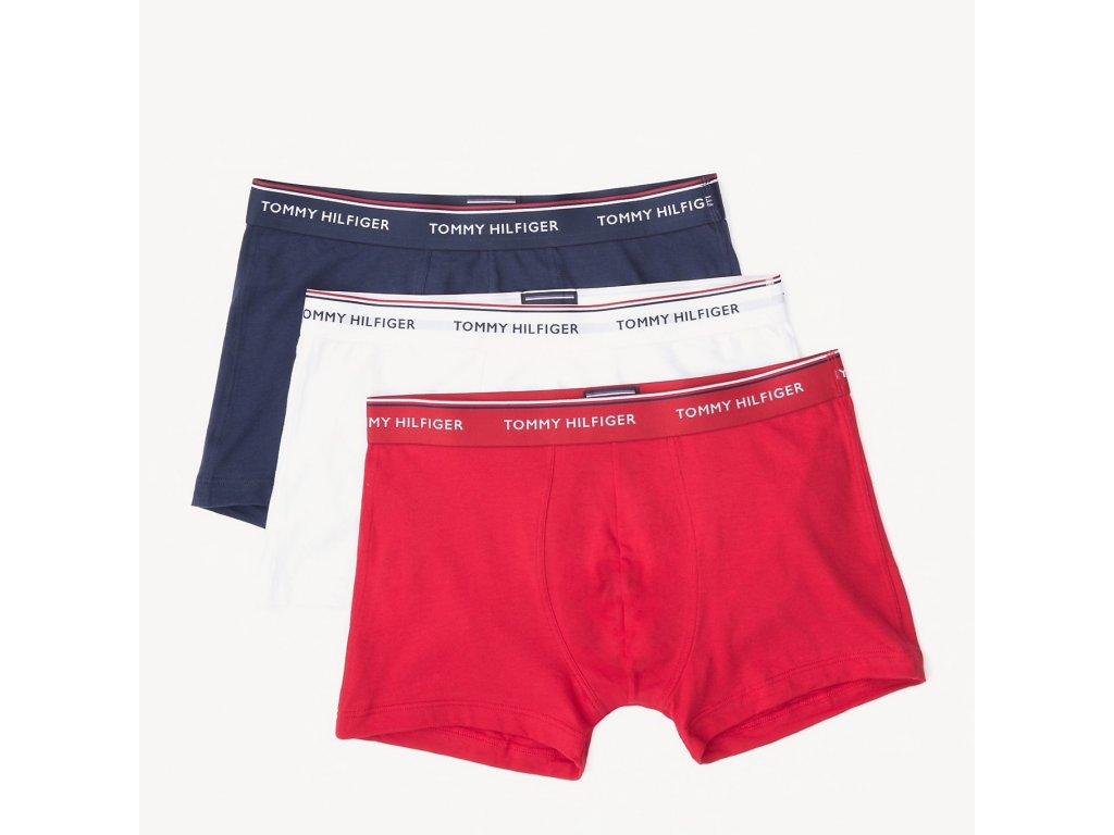 Tommy Hilfiger 3KS BALENÍ Boxerek se středně dlouhá nohavička limitovaná kolekce - Premium Essentials v Typických barvách značky TH (TH 3PACK Trunk 1U87903842 611)