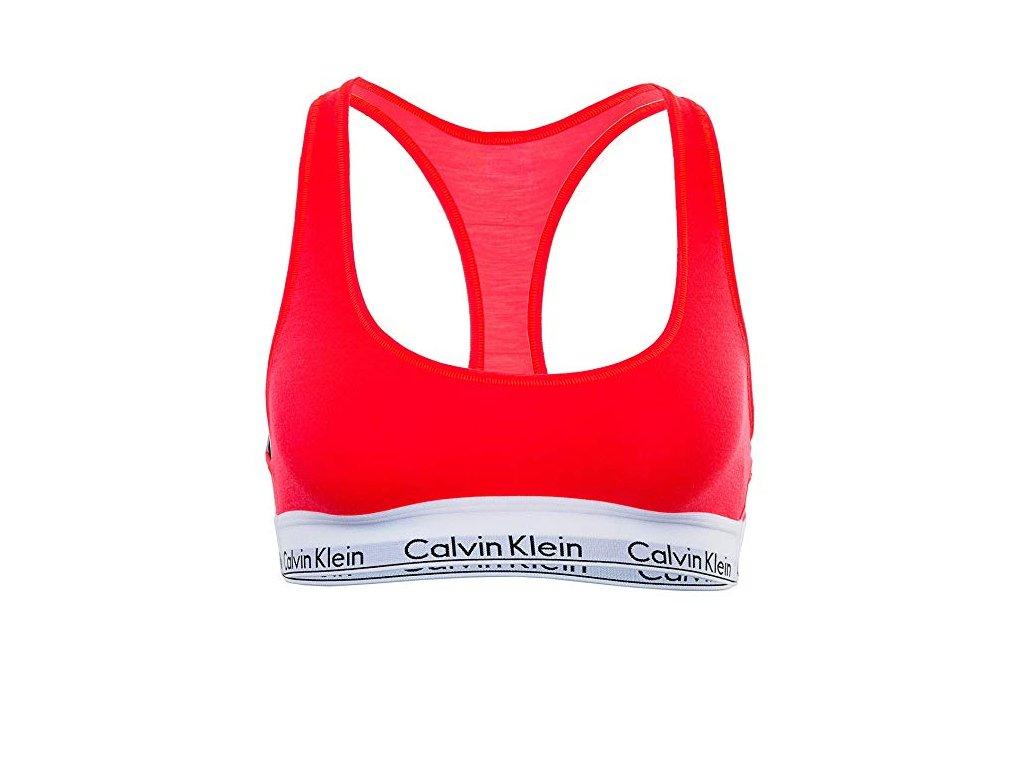 Calvin Klein Dámská podprsenka Modern cotton Bralette limitovaná kolekce reflexní oranžová QF1659E NC5