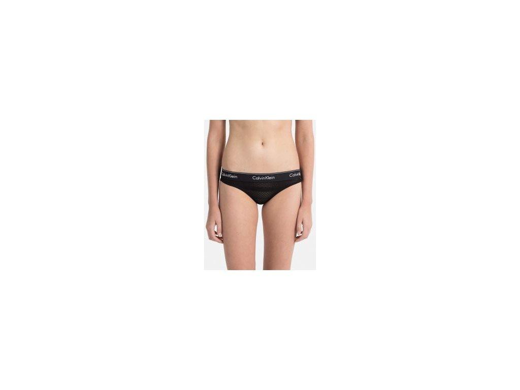 Krajkové kalhotky/bikini Calvin Klein limitovaná kolekce černé CK QF4656E-001