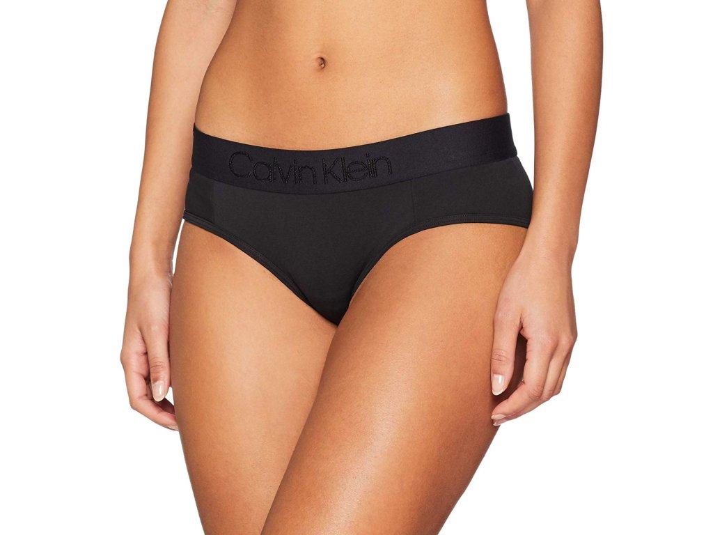 nízké modalové kalhotky/bikini Calvin Klein limitovaná kolekce černé CK QF4944E 001