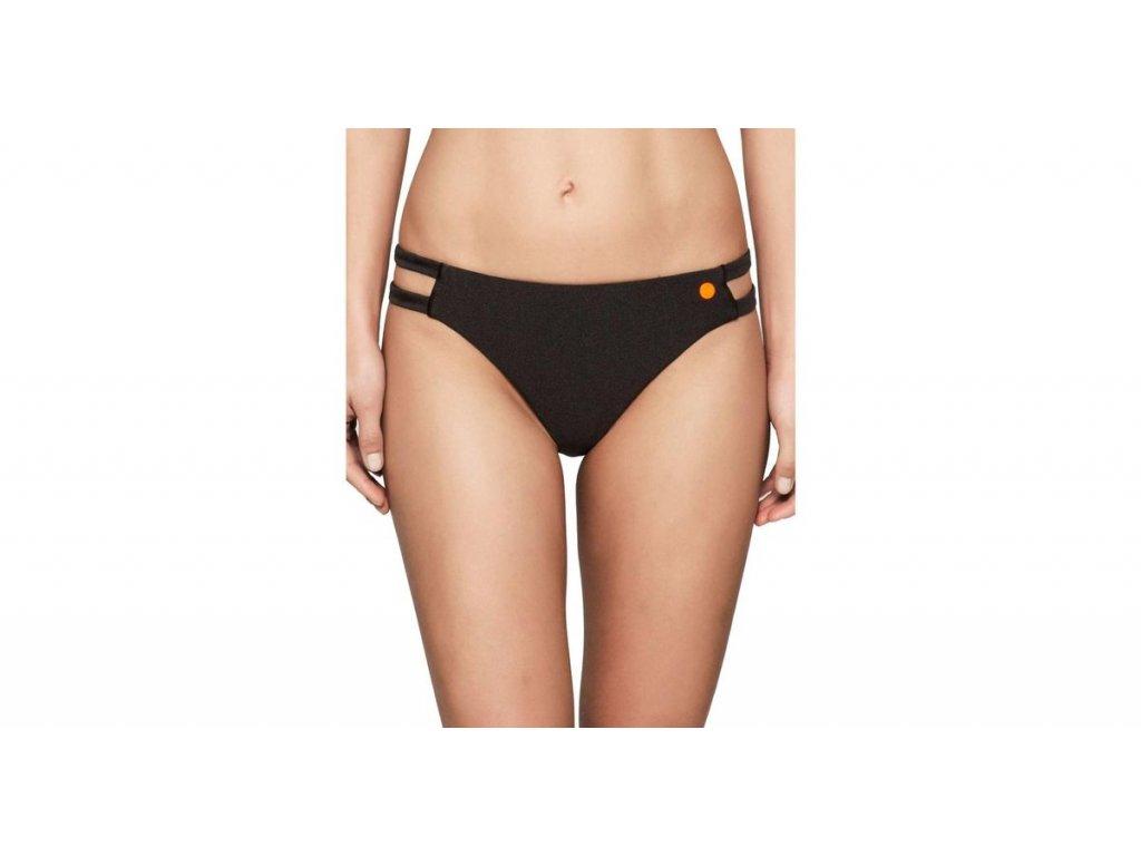 CK Dámský spodní díl plavek s výkroji černé lesklé - Calvin Klein KW0KW00051 001