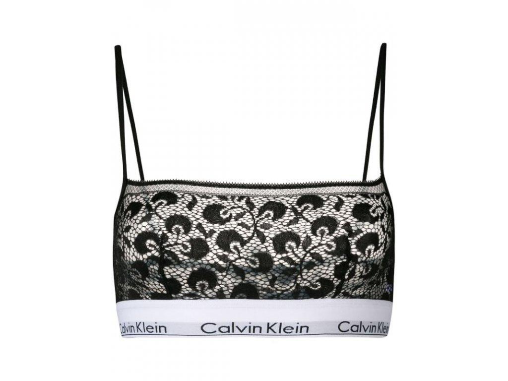 Calvin Klein Dámská podprsenka - krajková QF4958E_001 černá Limitovaná kolekce