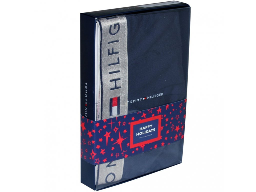 tommy hilfiger college prep silver waistband boxer trunk gift set navy silver p9351 46959 image