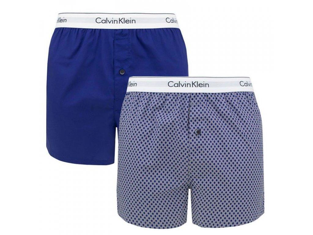 pack de 2 calecons ellipse print valiant bleu nb1396a calvin klein