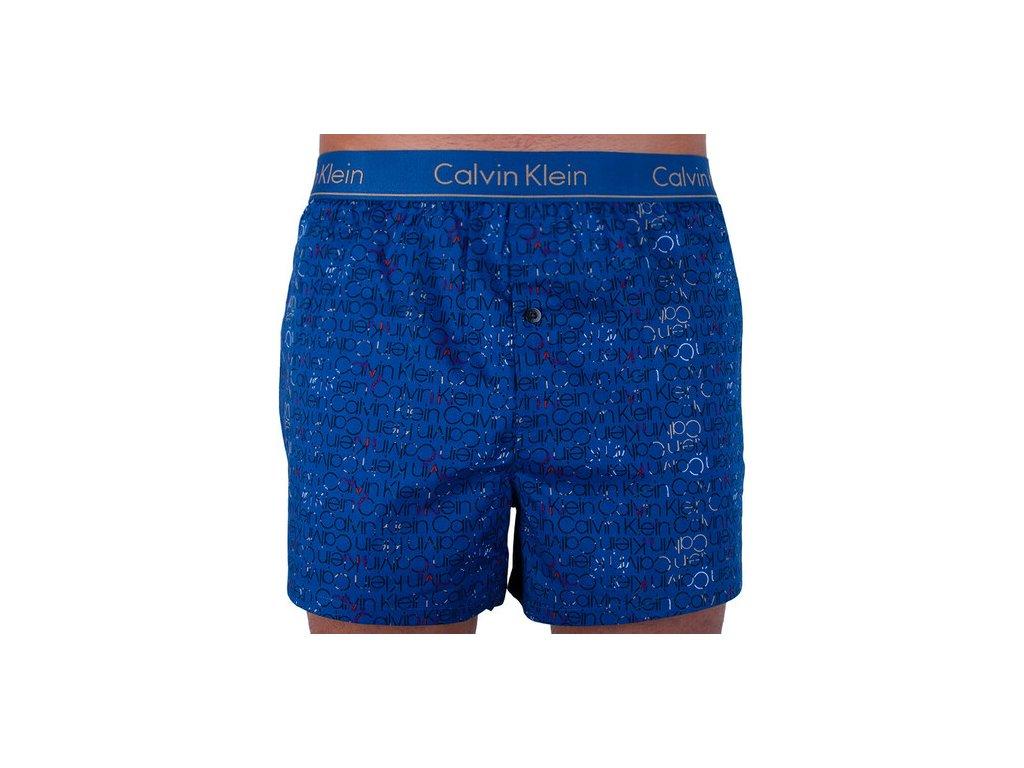 Calvin Klein pánské trenýrky z popelínu limitovaná kolekce - Slim Fit Boxers (CK NB1523A 7JW)
