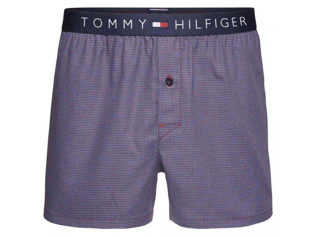 Témmy Hilfiger pánské trenýrky 100% měkčená, tkaná bavlna - limitovaná kolekce - ICON woven Boxer (UM0UM00406 413)